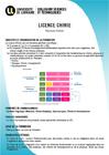 Plaquette de la Licence Chimie