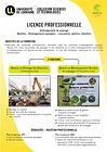 Plaquette licence professionnelle Aménagement du paysage Mention Aménagement paysagers : conception, gestion, entretie