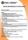 Master Mathématiques et Applications