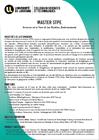 Master Sciences de la Terre et des Planètes Environnement (STPE)