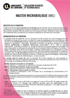 Plaquette Master Microbiologie