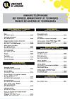 Annuaire téléphonique des services administratifs et techniques de la FST