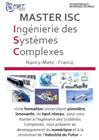 Plaquette de présentation du Master Ingénierie des Systèmes Complexes